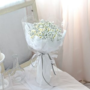 Daisy and Baby Breath Bouquet