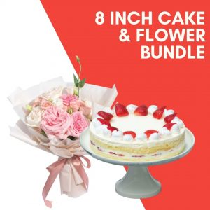 8 inch cake flower bundle