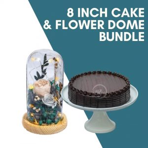 8 inch cake flower dome bundle