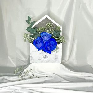 Blue Marble Rose Envelope