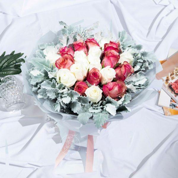 Marigold Fire - Mixed Kenya Rose Premium XL Bouquet