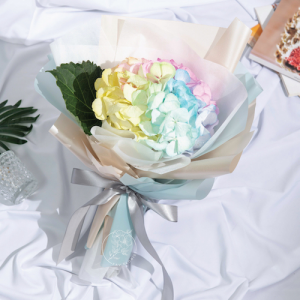Mystical - rainbow hydrangea bouquet