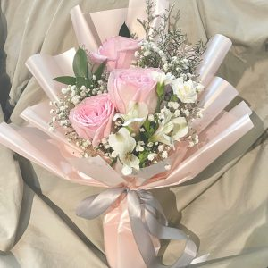 Pretty in Pink - 3 pink ohara rose bouquet