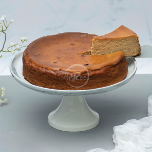 butterscotch basque cheesecake slice