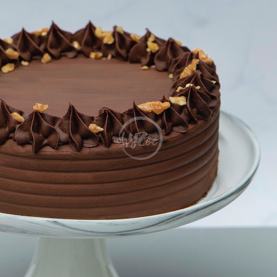 chocolate brownie cake side