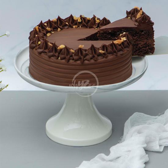 chocolate brownie cake slice