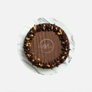 chocolate brownie cake top