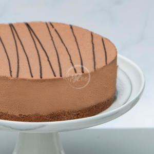 chocolate truffle cake side