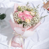 eternity - mixed kenya rose and carnation bouquet