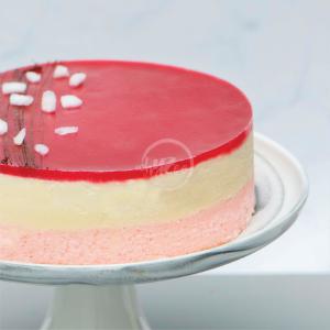lychee rose cake side