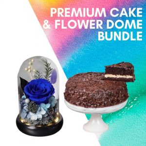 premium cake flower dome bundle