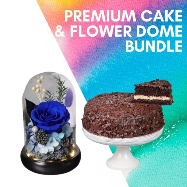premium cake flower dome bundle