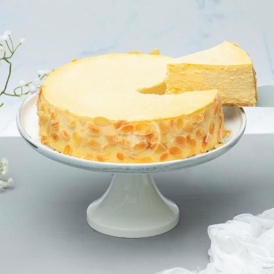 premium new york cheesecake slice