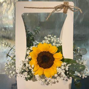 Delightful - sunflower baby breath box