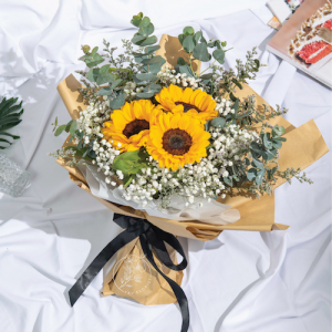 walking on sunshine - sunflower bouquet