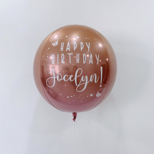 16' customised ombre orb balloon