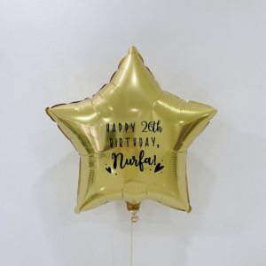 20' customised star balloon