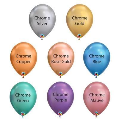 Chrome Latex Balloons Colour-Chart
