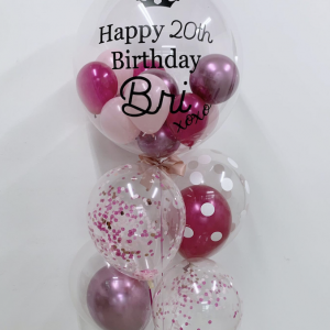 customised balloon bouquet