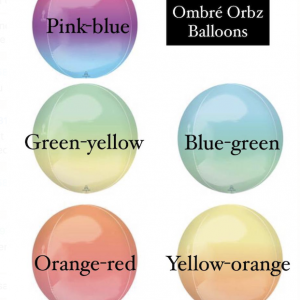 ombre orb balloon colors