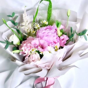 Amora flower bouquet - peony and carnation bouquet