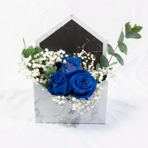 Blue Kenya Rose Marble Envelope Box