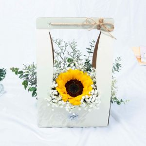 Delightful - Sunflower Baby Breath Box Front