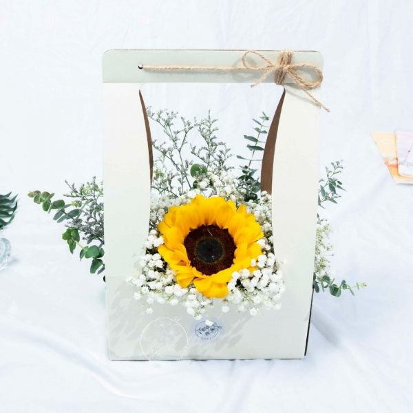 Delightful - Sunflower Baby Breath Box Front
