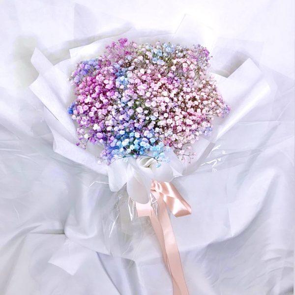 Galaxy Bouquet- Rainbow Baby Breath Bouquet