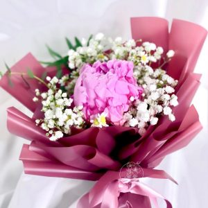 Grace flower bouquet - peony and baby breath bouquet
