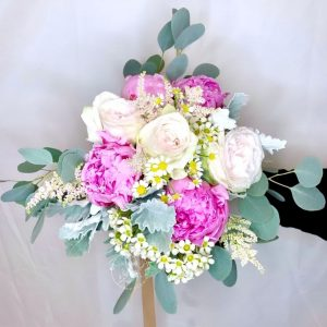 luxe hand bouquet - ohara roses and peony bouquet