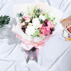 Amour - Kenya Rose and Rose Spray Bouquet