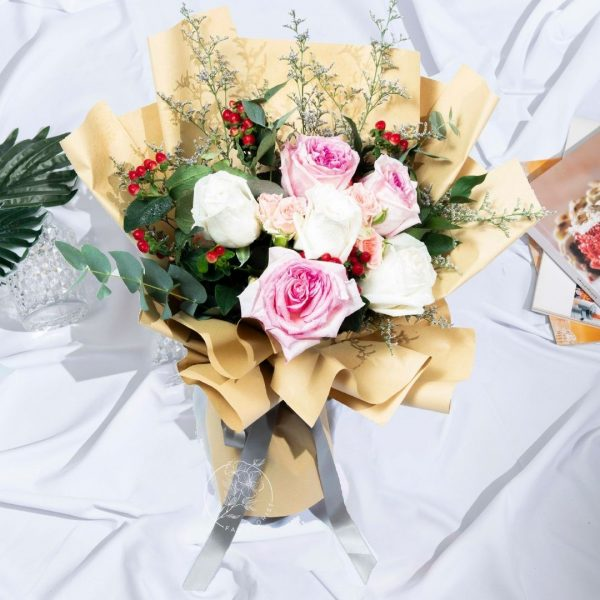 Happiness - Ohara and Kenya Rose Bouquet