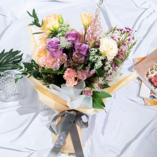 Jenny - Two-toned Purple Kenya Rose Bouquet