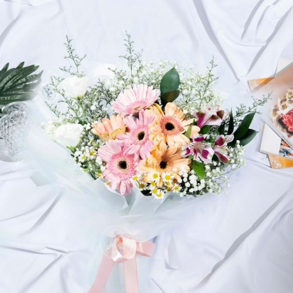 Raspberry Ripple - Gerberas Bouquet