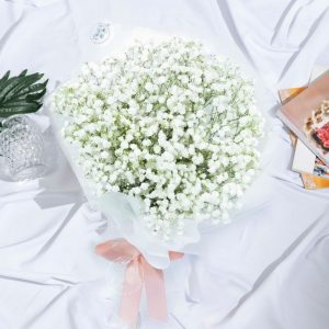 Snow White - Baby Breath Bouquet