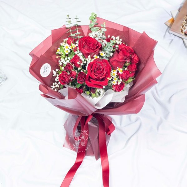 Be Mine - Valentine's Day Red Rose and Rose Spray Bouquet