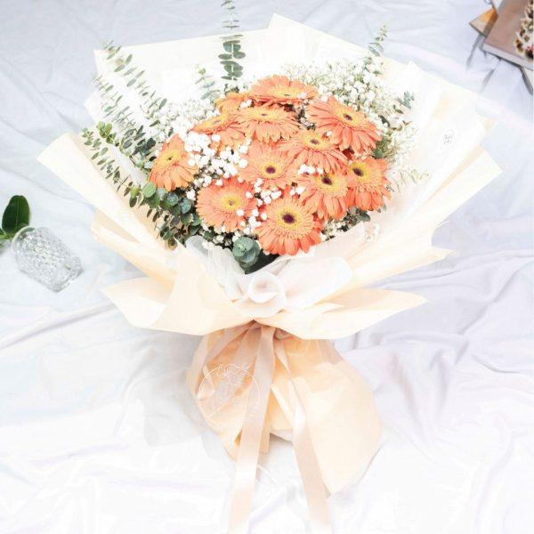 Candy Corn - Mixed Gerbera Bouquet