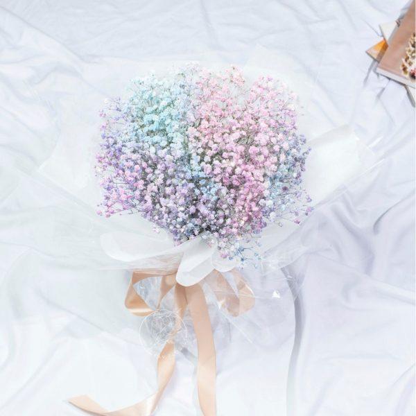 Galaxy - Rainbow Baby Breath Bouquet