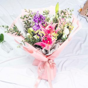 Pinkie - Mixed Lily Bouquet