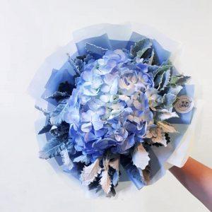 Blue Lagoon - Hydrangea Bouquet