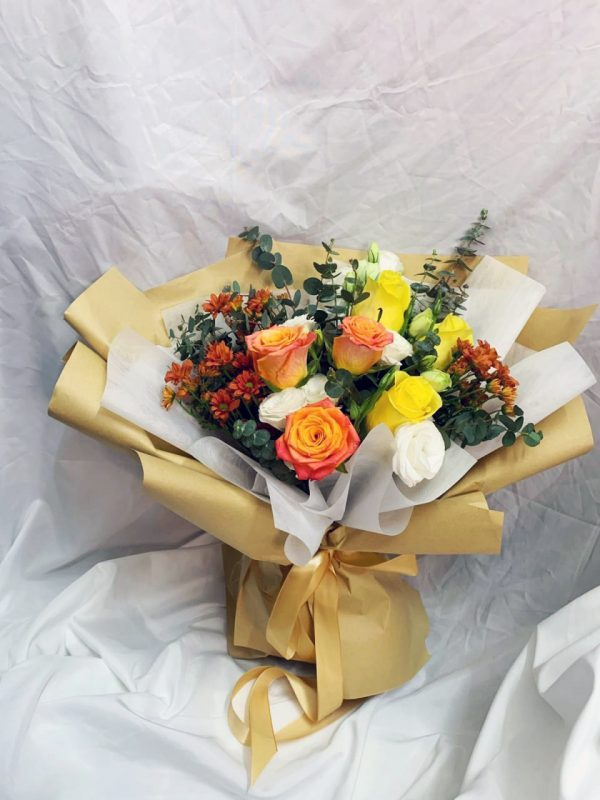 Summer Glow - Kenya Rose Mixed Bouquet