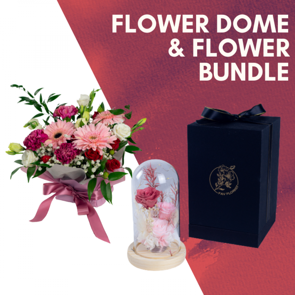 Flower Dome & Flower Mother's Day Bundle