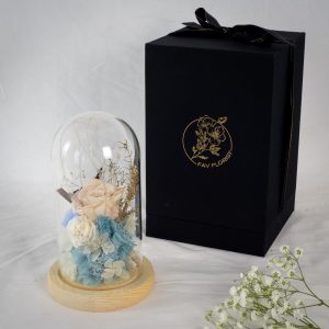 Ice Princess Preserved Flower Dome