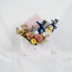 Father's Day Special - Rose & Eustoma Marble Envelope Box
