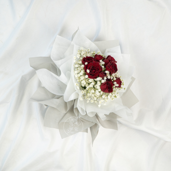 Forever Love - Rose & Baby Breath Bouquet