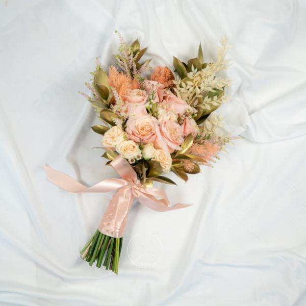 La Fleur Wedding Hand Bouquet - Rose & Carnation Bouquet