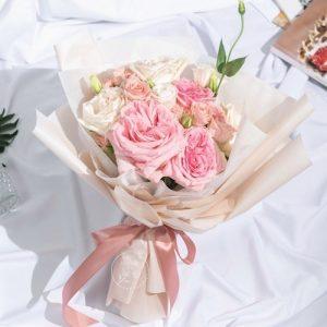 Passion - O'Hara Rose & Eustoma Bouquet