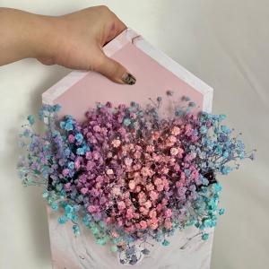 Rainbow Baby Breath Marble Envelope Box Close Up