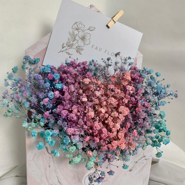 Rainbow Baby Breath Marble Envelope Box Side